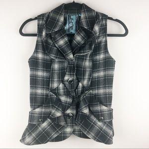 L.A.M.B. Ruffle Plaid Vest - Size 0
